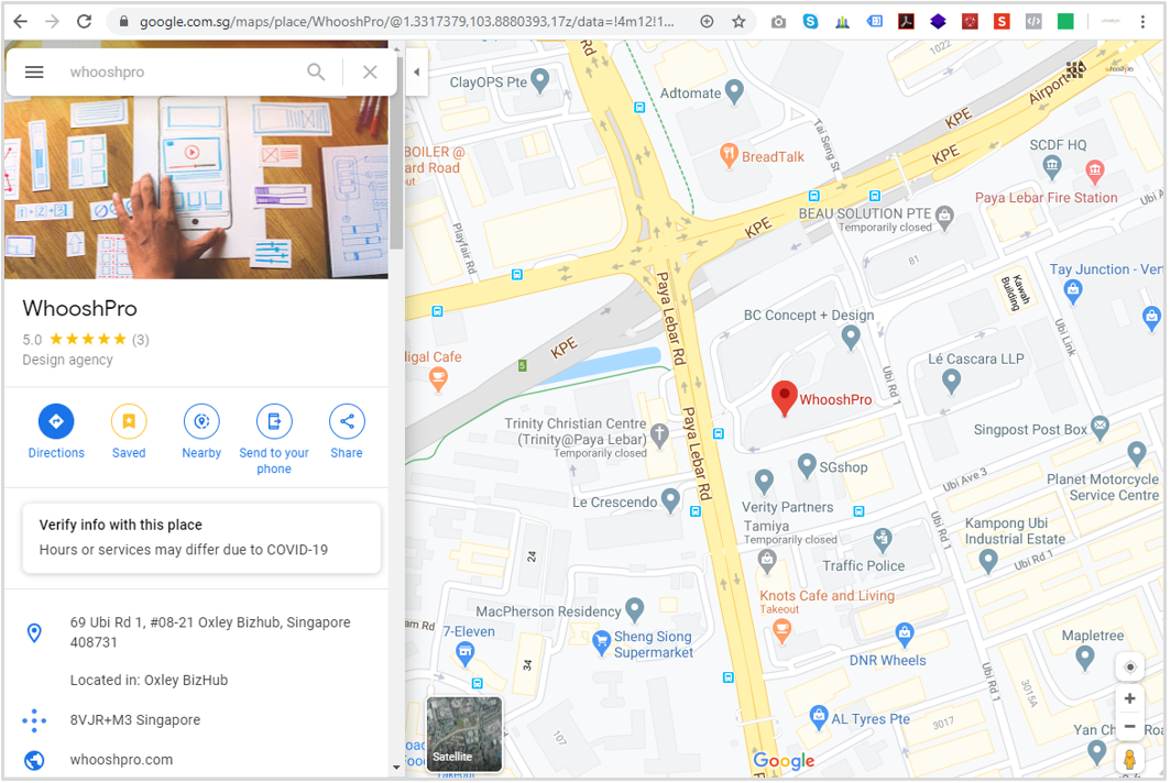 location awareness and proximity adds to search relevance